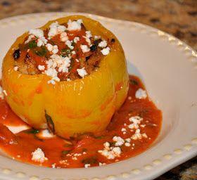 Secrets of a Foodie: Mediterranean Stuffed Peppers