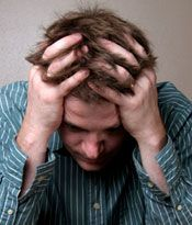 Signs and symptoms of an acute emotional/psychological collapse.