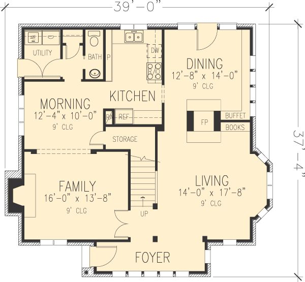 Small Tudor Cottage Plans First Floor Plan Of