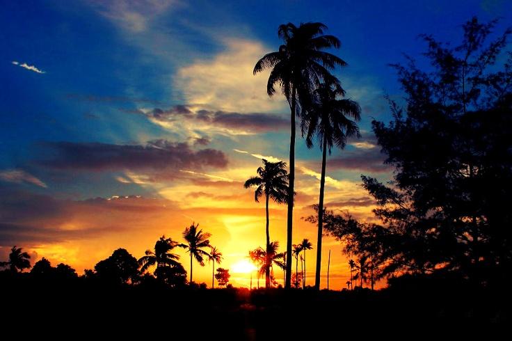 Sunset @ Rambak Beach Bangka Island, Indonesia