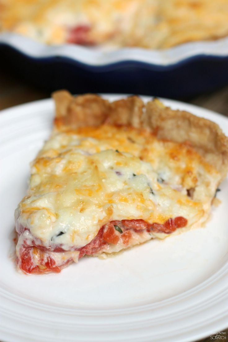 Tomato Pie recipe from TastesBetterFromScratch.com: Cheese Pies, Fresh ...