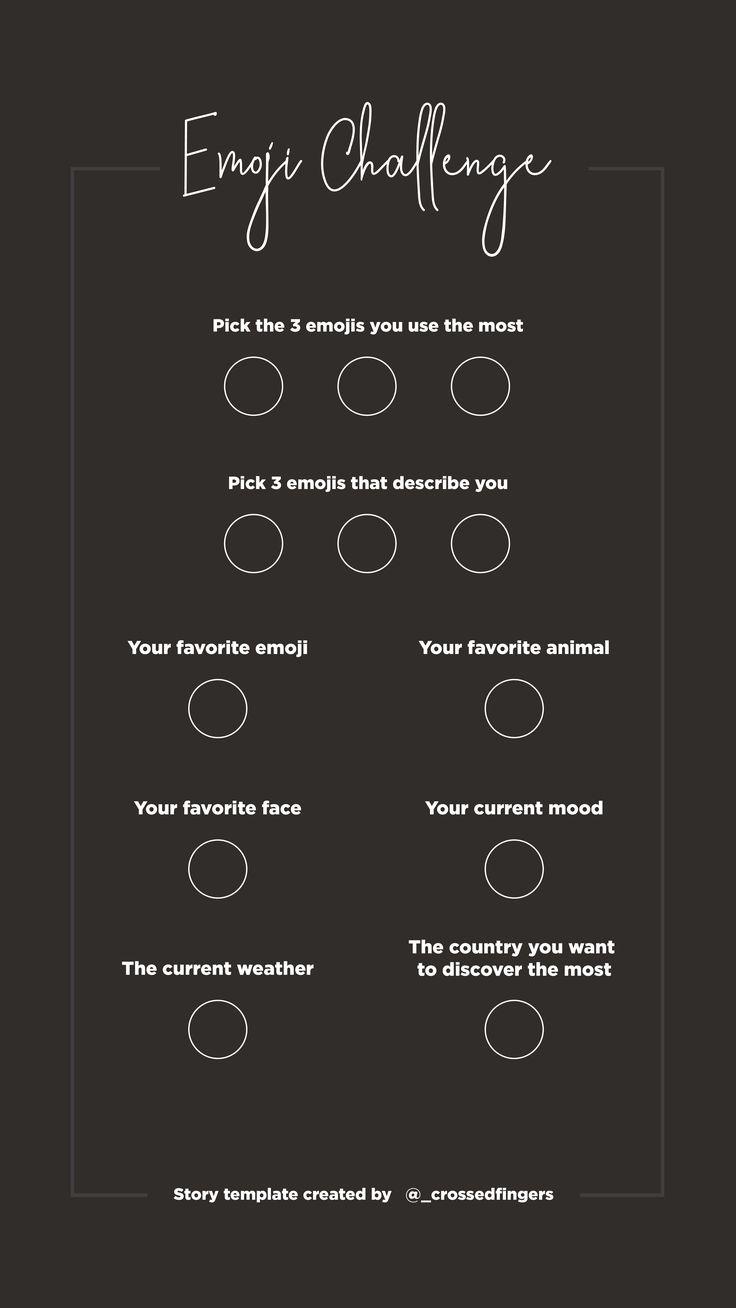 Template instastory Emoji Challenge #template #instagram #story #emoji #storytemplates