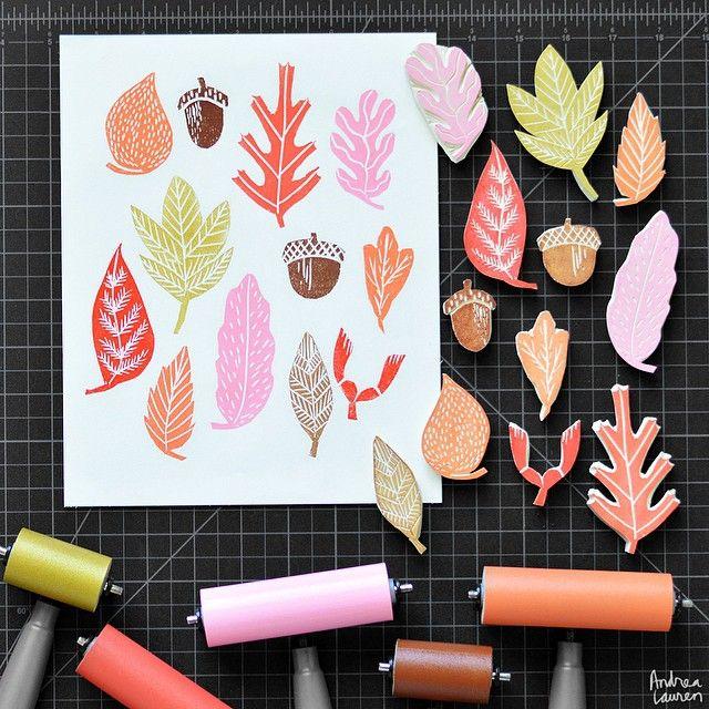 Andrea Lauren - Hand Carved Leaf Stamps