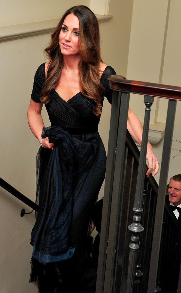 Kate Middleton wears Jenny Packham (again!) to a benefit gala in London. #fashion