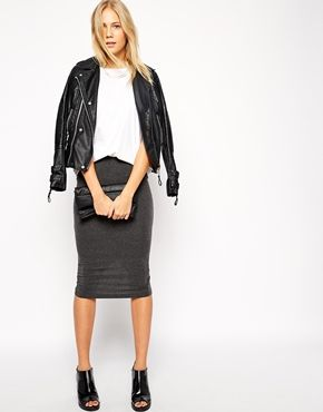 Enlarge ASOS Midi Pencil Skirt in Jersey