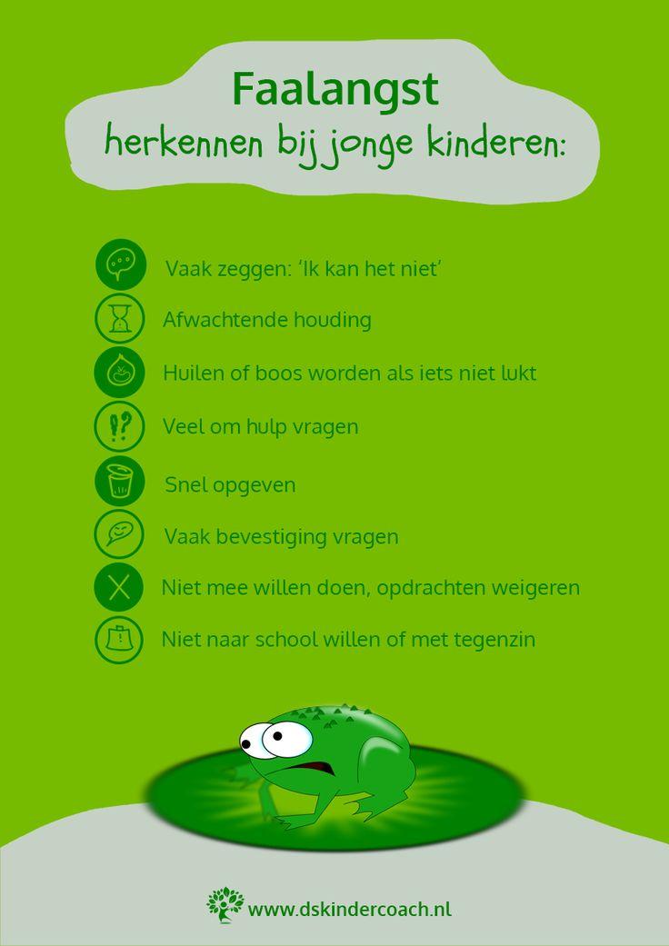 Infographic Faalangst kenmerken bij jonge kinderen