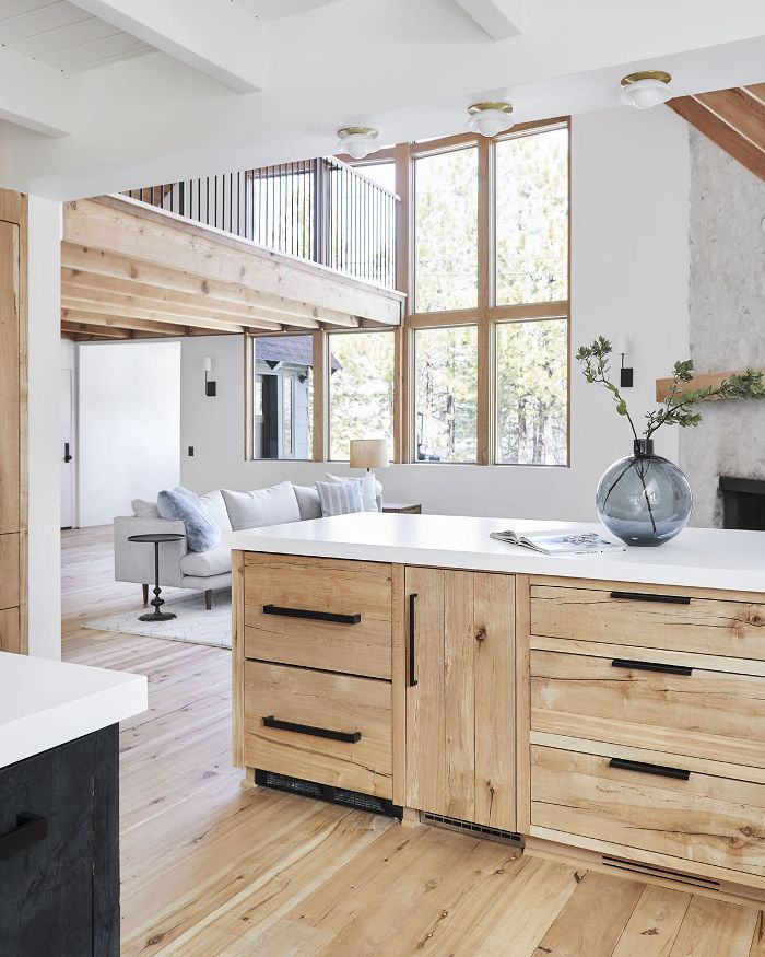 Before And After This Renovated Ranch Kitchen Beautifully Blends Rustic With Modern: This $50K Rustic Kitchen Renovation Will Have You Dreaming