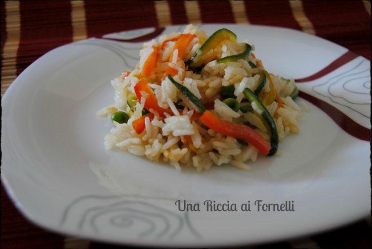 Riso basmati con verdure, ricetta thailandese rivisitata - Una Riccia ai Fornelli