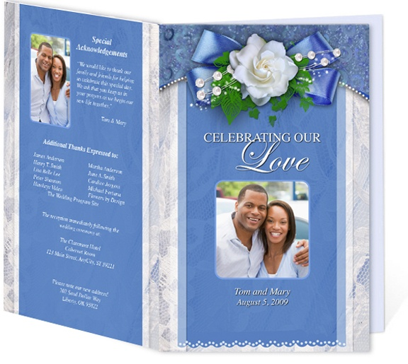 Wedding Programs Templates: Letter Single Fold: DIY Printable Cherish Wedding Program Template