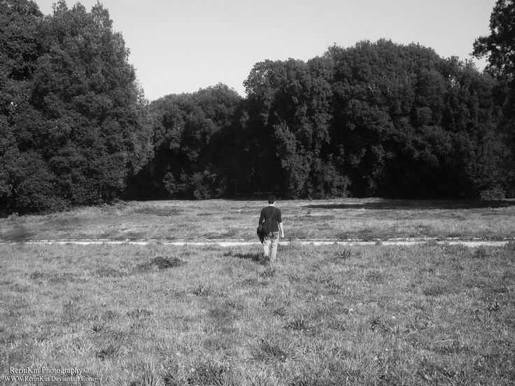 A lonely photo that i took of my boyfriend.