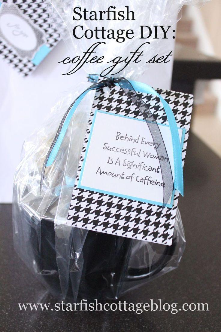 Coffee mug wedding favors - Coffee Mug With Treats And Cute Tag Teacher Gift