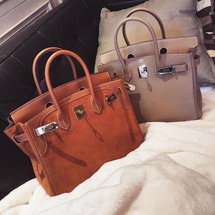 burnt orange suede hermes birkin
