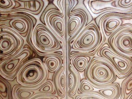 "TV cabinet doors inserts ""Liquid plywood style"""