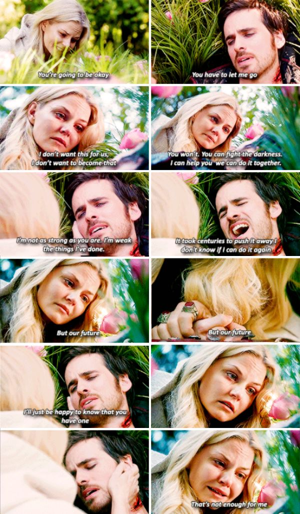 """""""You have to let me go"""" - Killian and Emma #OnceUponATime [[ that.was.hearbreaking :( ]]"""