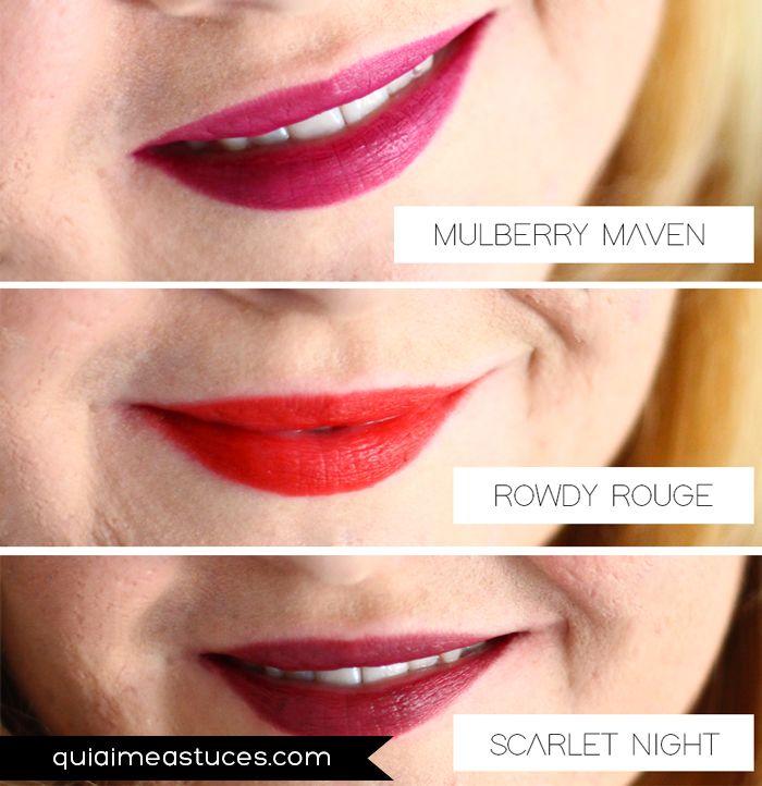 Mulberry Maven (#82475) - Rowdy Rouge - (#82474) - Scarlet Night (#82476) - http://www.elfcosmetics.it/product-beauty/matita-jumbo-labbra