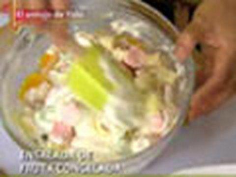 Ensalada de Fruta con Queso Crema