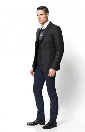 Calibre - Unstructured Blazer   Eyak Jacquard Sweater   Stretch One Shirt   Tough Jean   Buffalo Dress Boot