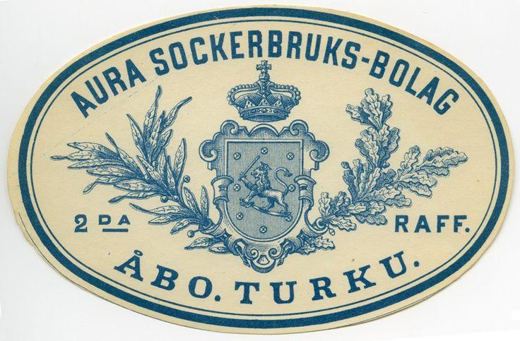 Aura Sockerbruks-bolag, #Turku #etiketit #label
