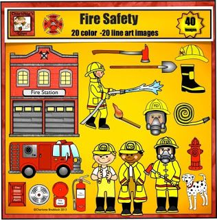 Fire safety, Clip art and Safety on Pinterest
