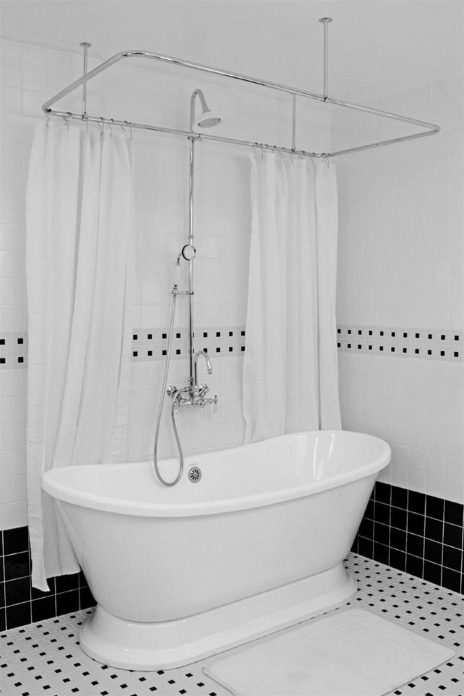 """59"""" Bateau Pedestal Tub with Shower Package"""
