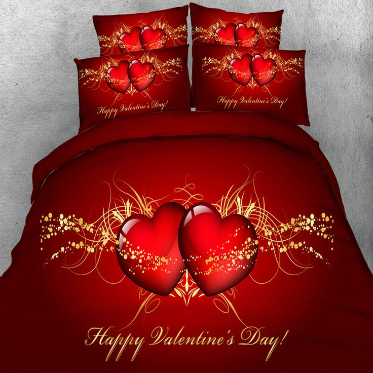 ==> [Free Shipping] Buy Best Free Shipping HD digital 3d print valentine's day bedding set double bed linen super king size duvet bedclothes 4 Parts Per Set Online with LOWEST Price | 32814988250