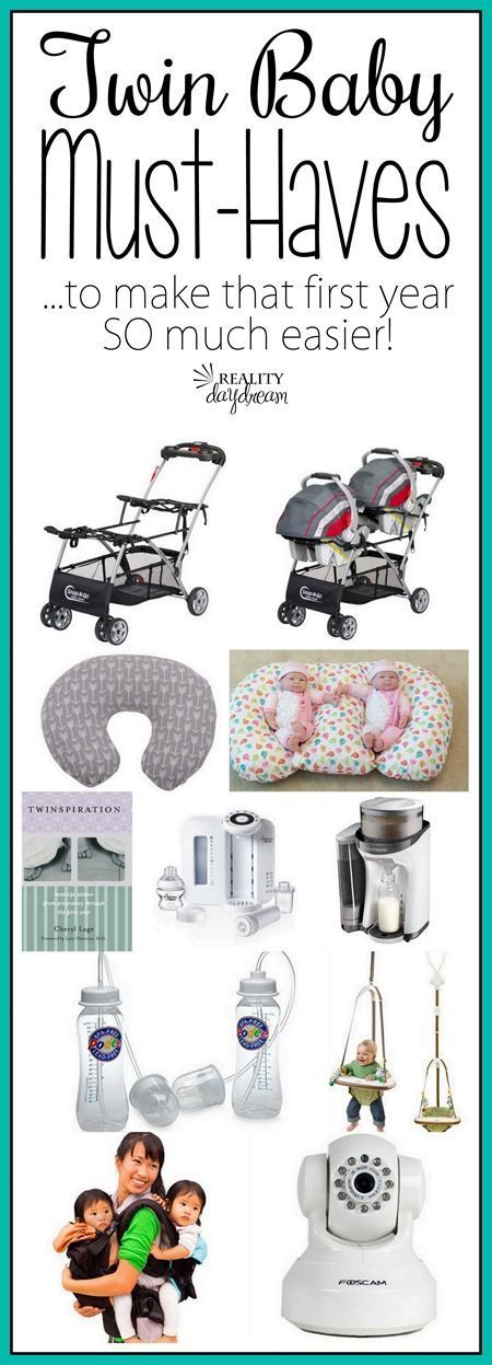 All the MUST HAVE items for twin's first year of life... as told by over 200 twin moms and dads that were surveyed! {Reality Daydream}