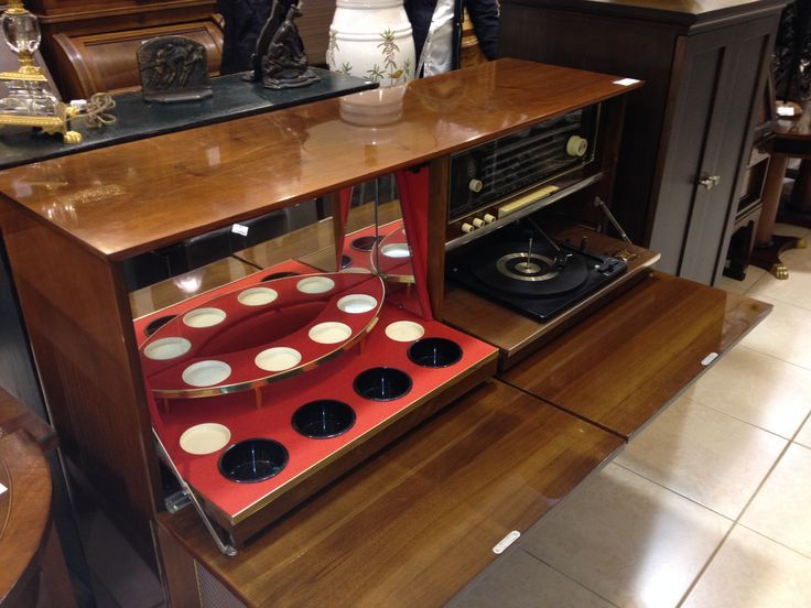 Vintage Console Bar Vintage Koronette Console Stereo