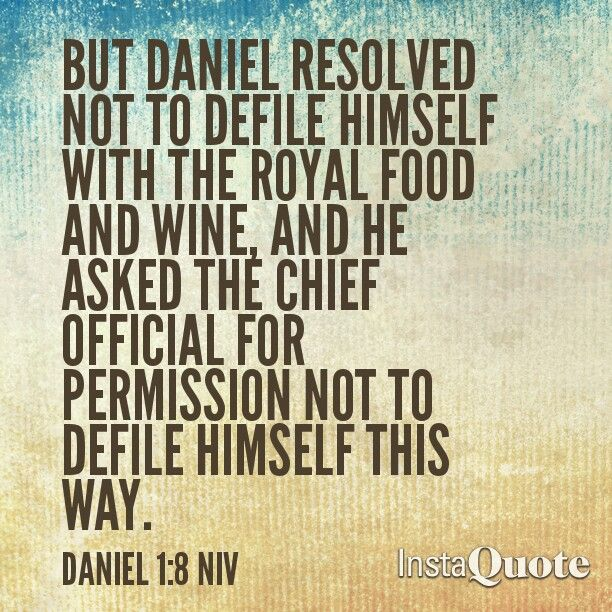 Daniel Fast scripture