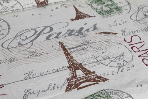 Mintás lenvászon - Paris