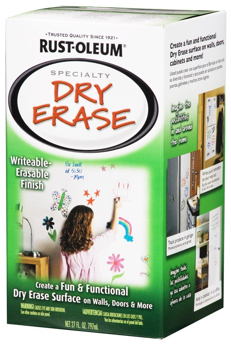 rust oleum 241140 dry erase brush on kit white spray paints for my office. Black Bedroom Furniture Sets. Home Design Ideas