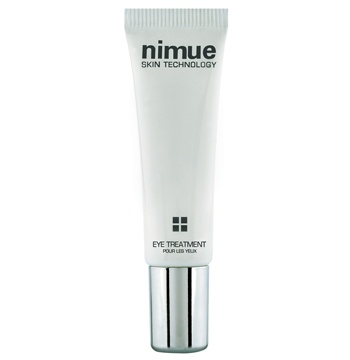 Eye Treatment. A unique rejuvenating blend of ingredients, based on DMAE, Peptides and Vitamin A, C and E Esters, for daily use on the delicate eye zone in all skin classifications. 15ml. Nimue Skin Technology.