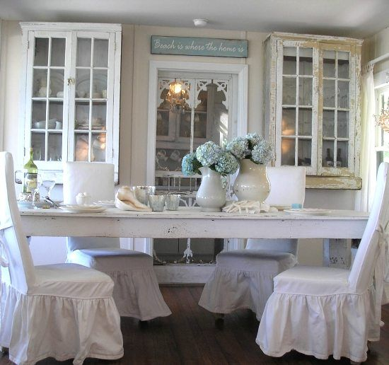 Shabby Chic Beach Cottage On Casey Key, Florida. Shabby Chic Dining  RoomShabby ...