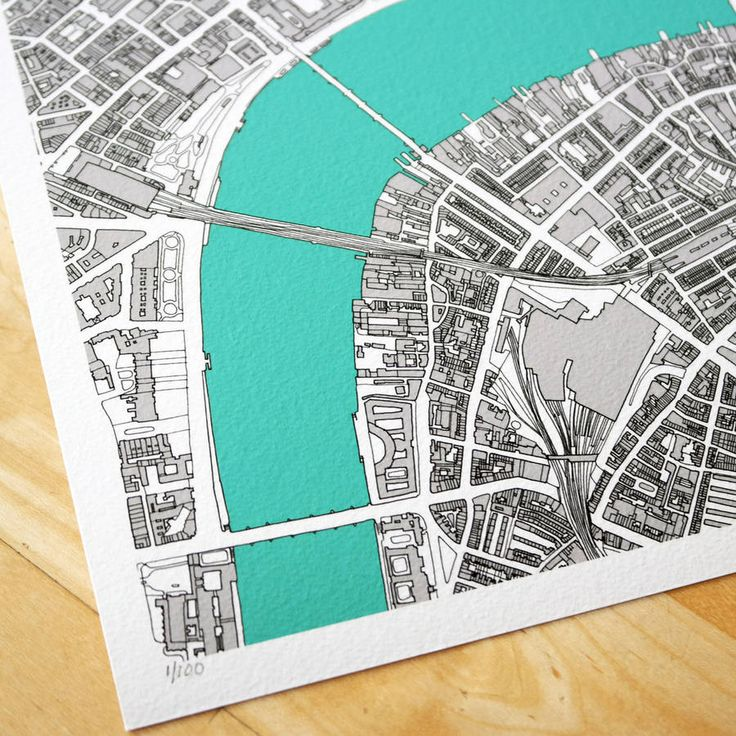 london hand drawn map limited edition print by bronagh kennedy - limited edition prints | notonthehighstreet.com