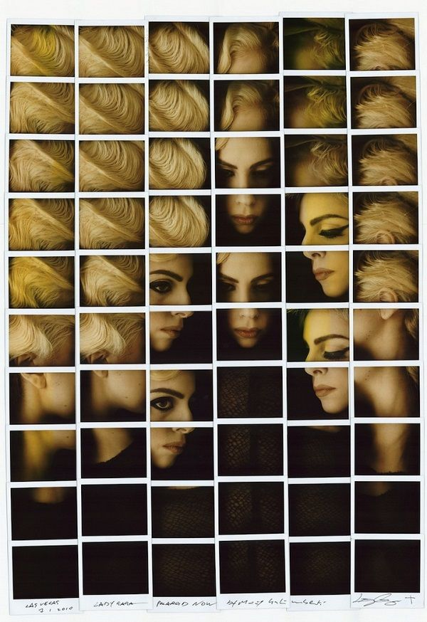 Photo, Polaroid Portraits, Lady Gaga, by Maurizio Galimberti