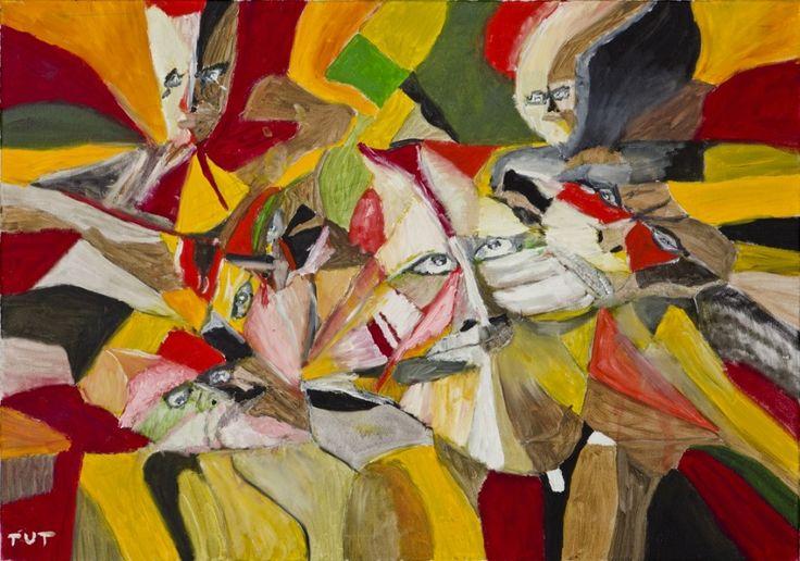 Wojciech Tut Chechliński, Konkurencja, olej na płótnie, 70 x 100 cm, 2013 r, sygnowany (kat. 070)