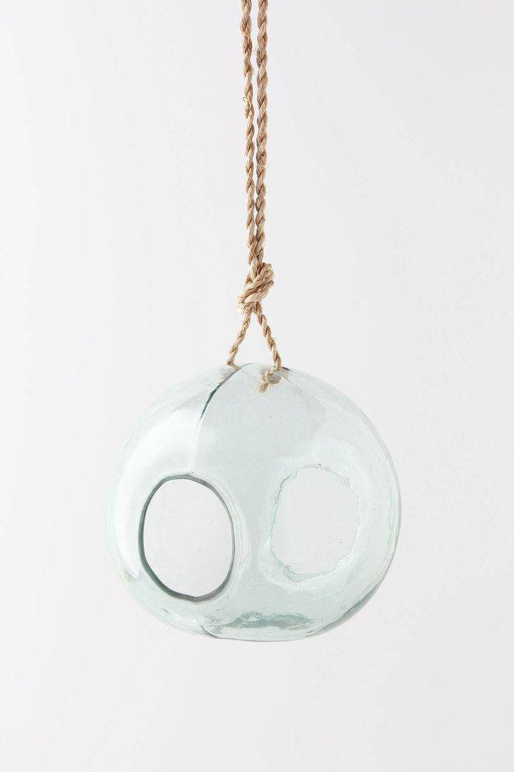 recycled glass birdfeeder
