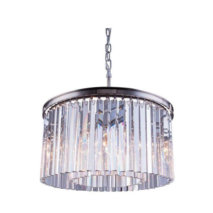 Элегантный освещение городских классики Сидней Подвеска Лампа в полированный никель