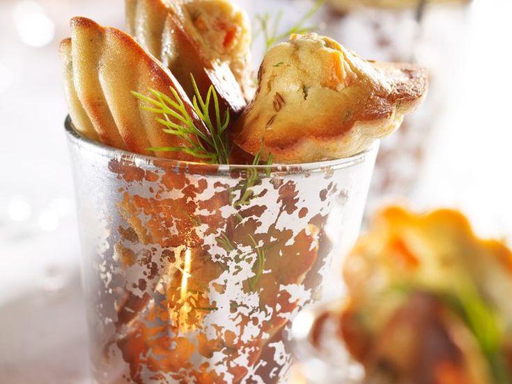 Découvrez la recette Madeleines au saumon fumé sur cuisineactuelle.fr.