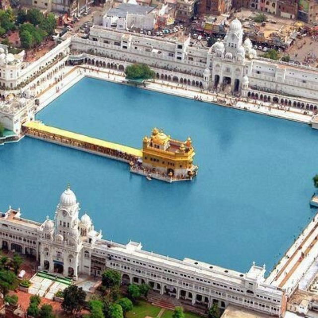 Golden Temple: Amritsar, India - I love this view of the temple, from above. It shows how magnificent the whole complex is.