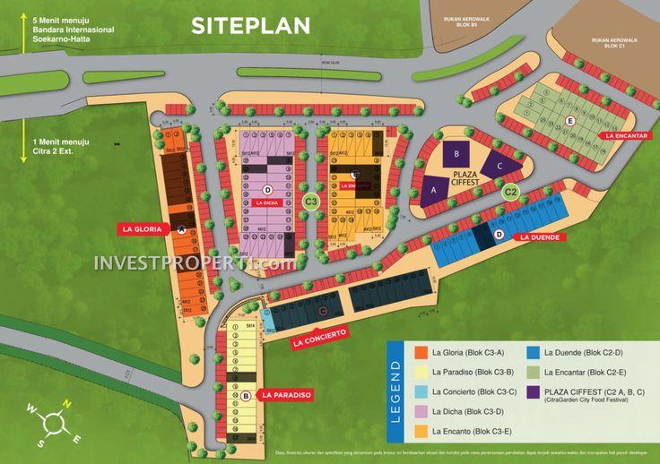 Site Plan Rukan Aerobliss Citra Garden City