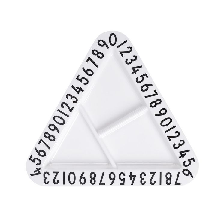 Design Letters - Kids Melamine Triangular Snack Plate