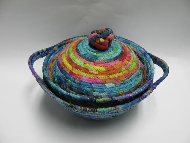 - wrapped clothesline basket