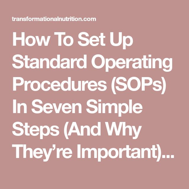 Mer enn 25 unike ideer om Standard operating procedure på - how to write a standard operating procedure