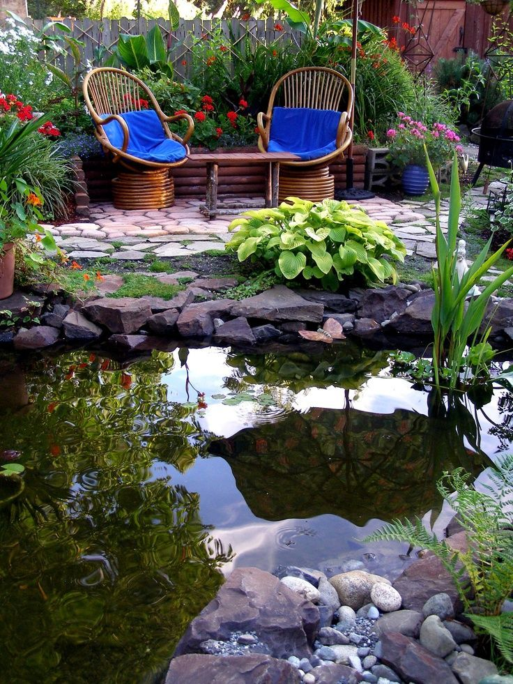 Pictures Of Garden Pathways And Walkways: A Pond Provides Peace And Reflection. My Favorite Hangout