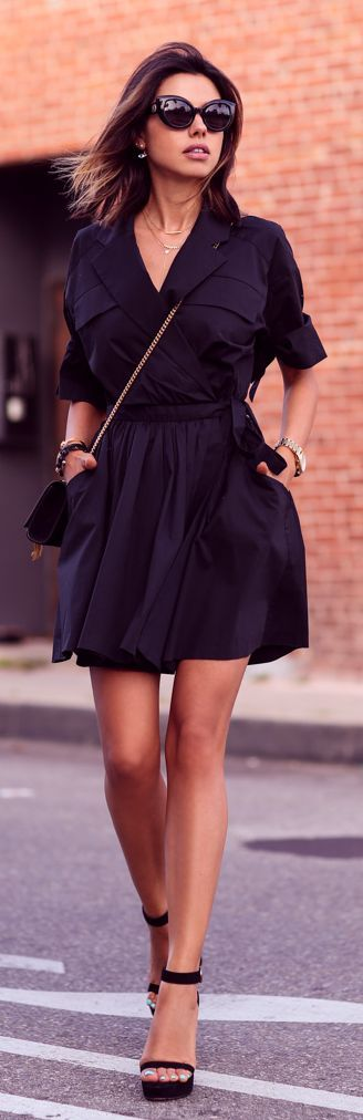 Little Black Shirtdress Styling by Vivaluxury