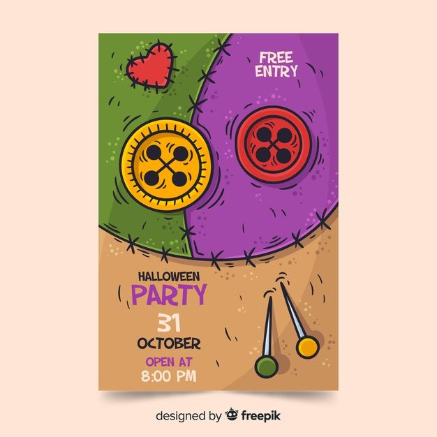 Halloween 2020 Poster Drawn Download Hand Drawn Halloween Party Poster Template for free in