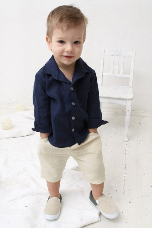 Baby Boy dress shirt Wedding party 1st birthday by mimiikids