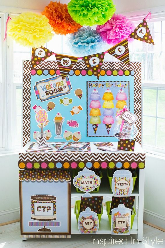 "See how Melanie created this super ""sweet"" classroom in her latest blog!"