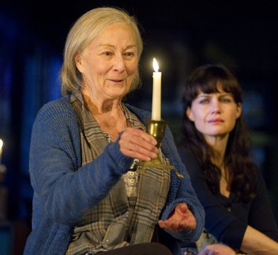 "Rosemary Harris and Carla Gugino in Athol Fugard's ""The Road to Mecca"""