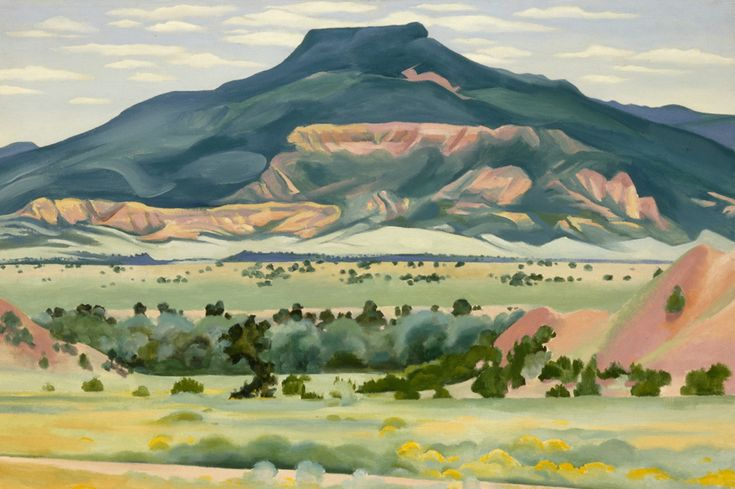 "Lindsay Essay   Georgia O'Keeffe's New Mexico   Georgia O'Keeffe, ""My Front Yard, Summer,"" 1941. © Georgia O'Keeffe Museum/DACS London."